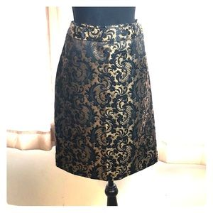 Gold&Black A-line Holiday skirt